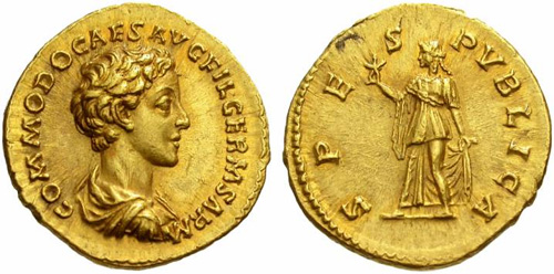 commodus roman coin aureus